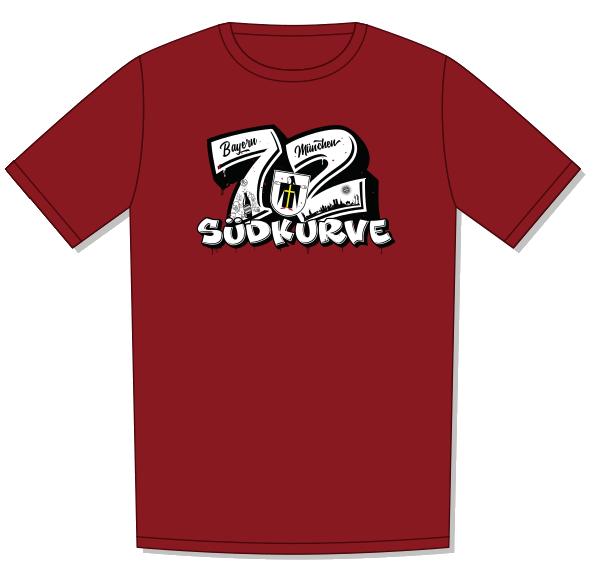 T-Shirt 72 mit Kindl - Burgund